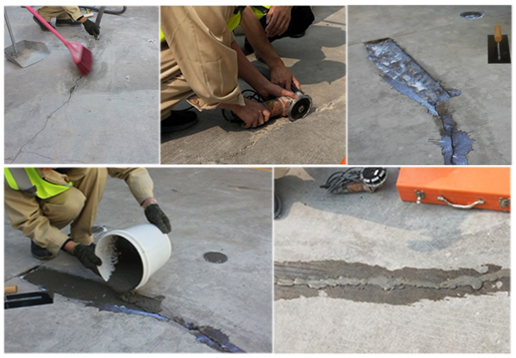 How to Repair Holes and Cracks in Concrete Floor : Cutting to Repair